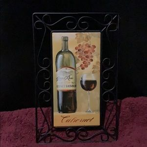"Other - 11"" x 7"" Art Decor Cabernet Wall Hanging"